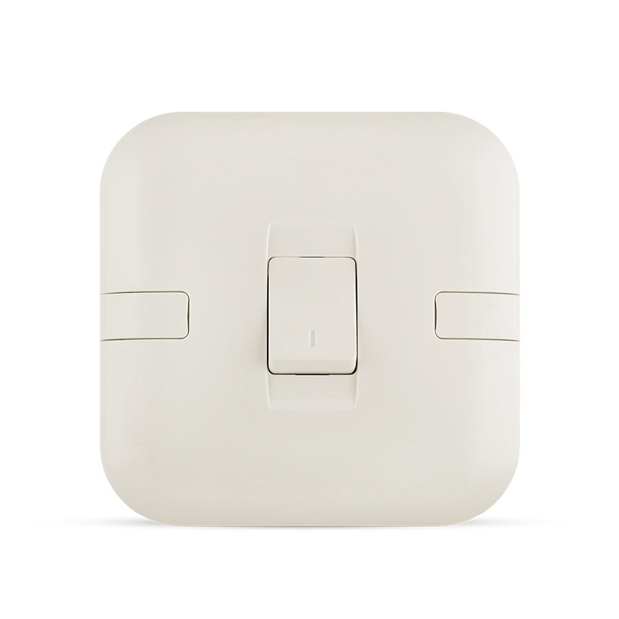 10A 1 gang switch white color spectra