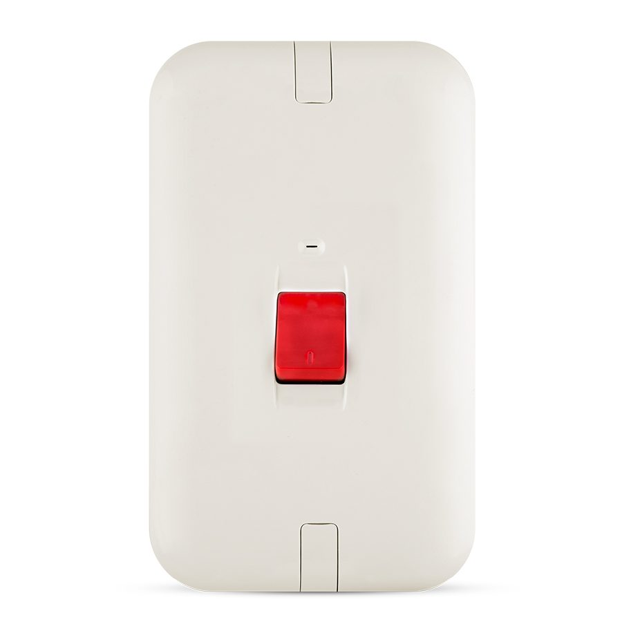 45A 1 gang switch white color spectra