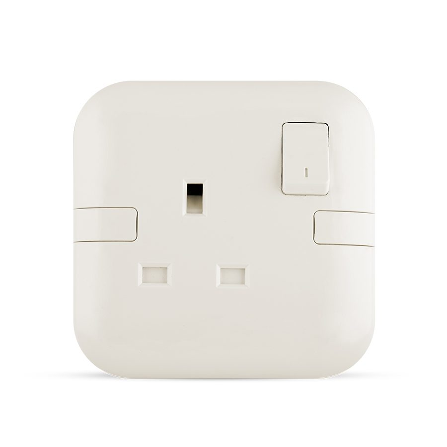 13A 1 gang Socket white color spectra