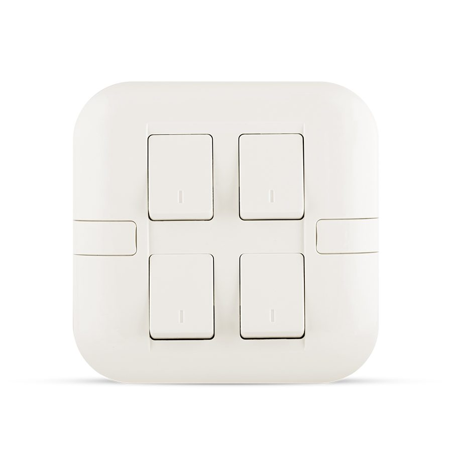 10A 4 gang switch white color spectra