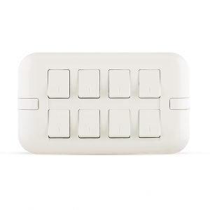 10A 8 gang switch white color spectra