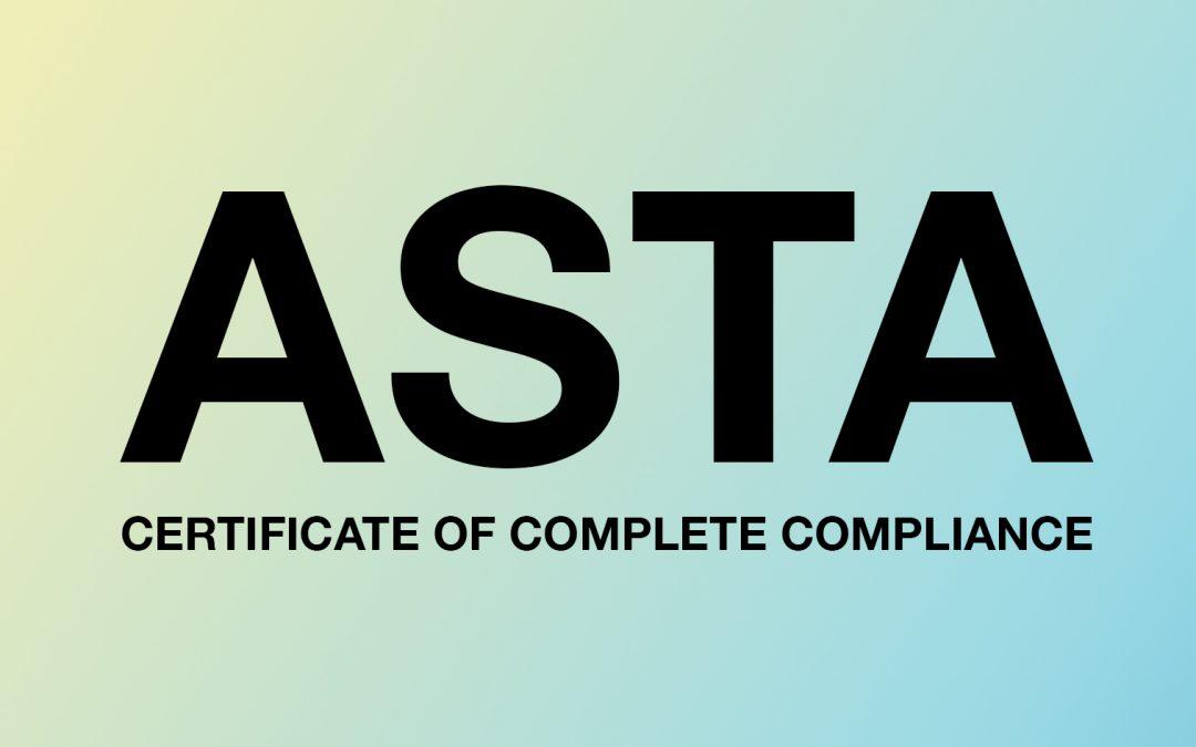 ASTA شهادة المواصفات القياسية العالمية