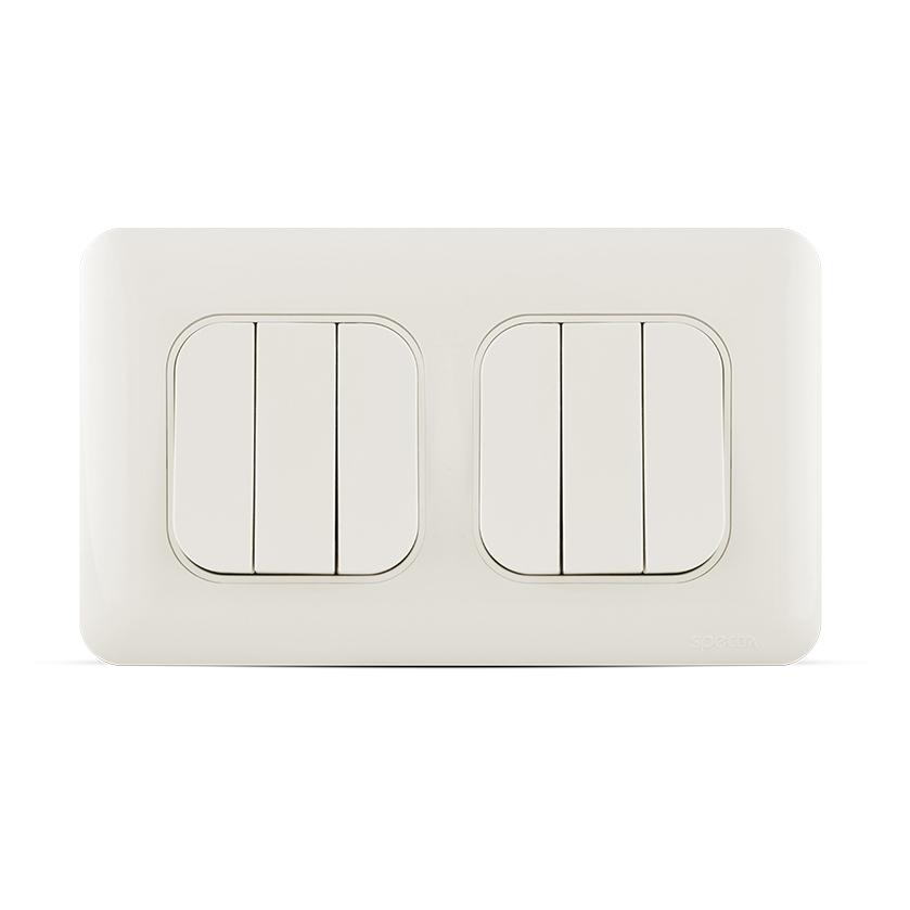 مفتاح إنارة سداسي اتجاهين (دركسيون) 10 أمبير 7×14