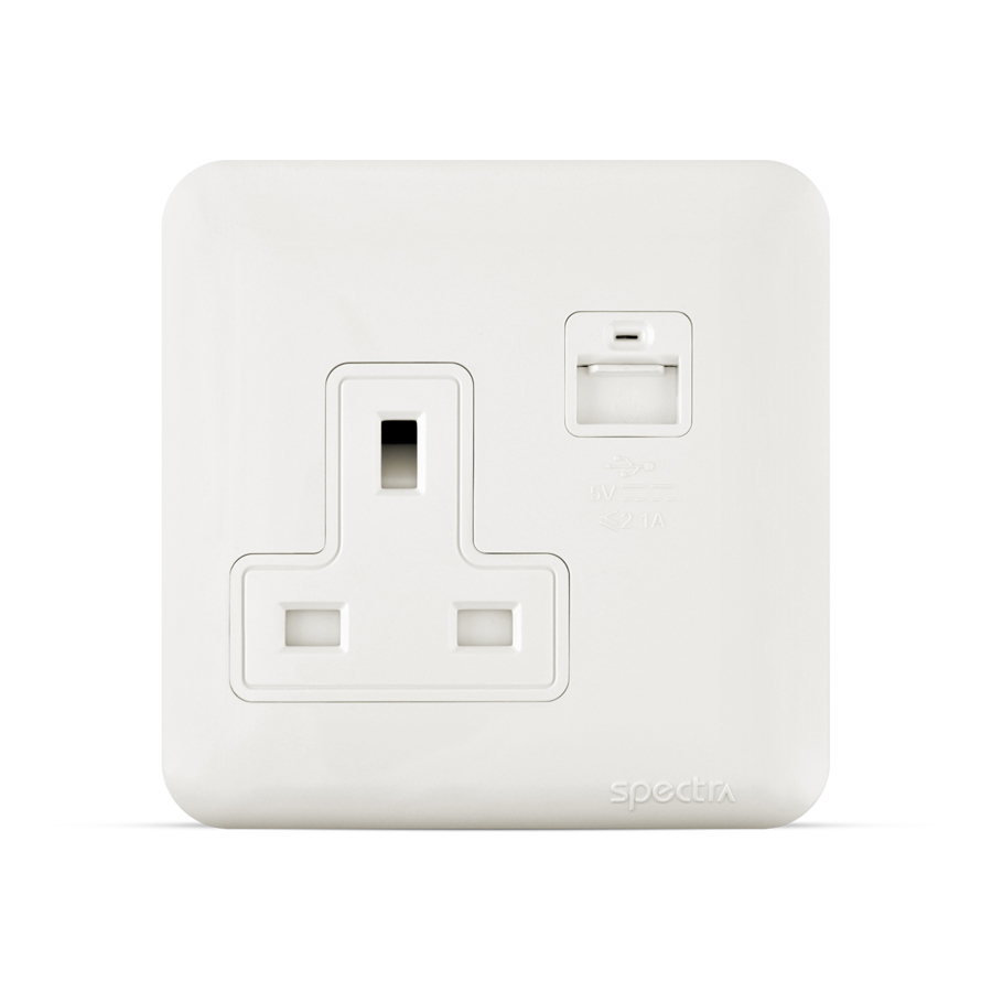 almas 13a with usb socket white spectra
