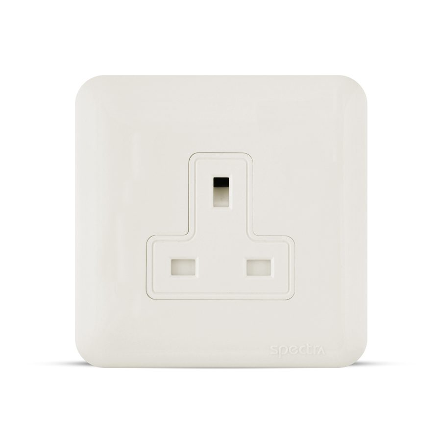 almas 13a socket no switch white spectra