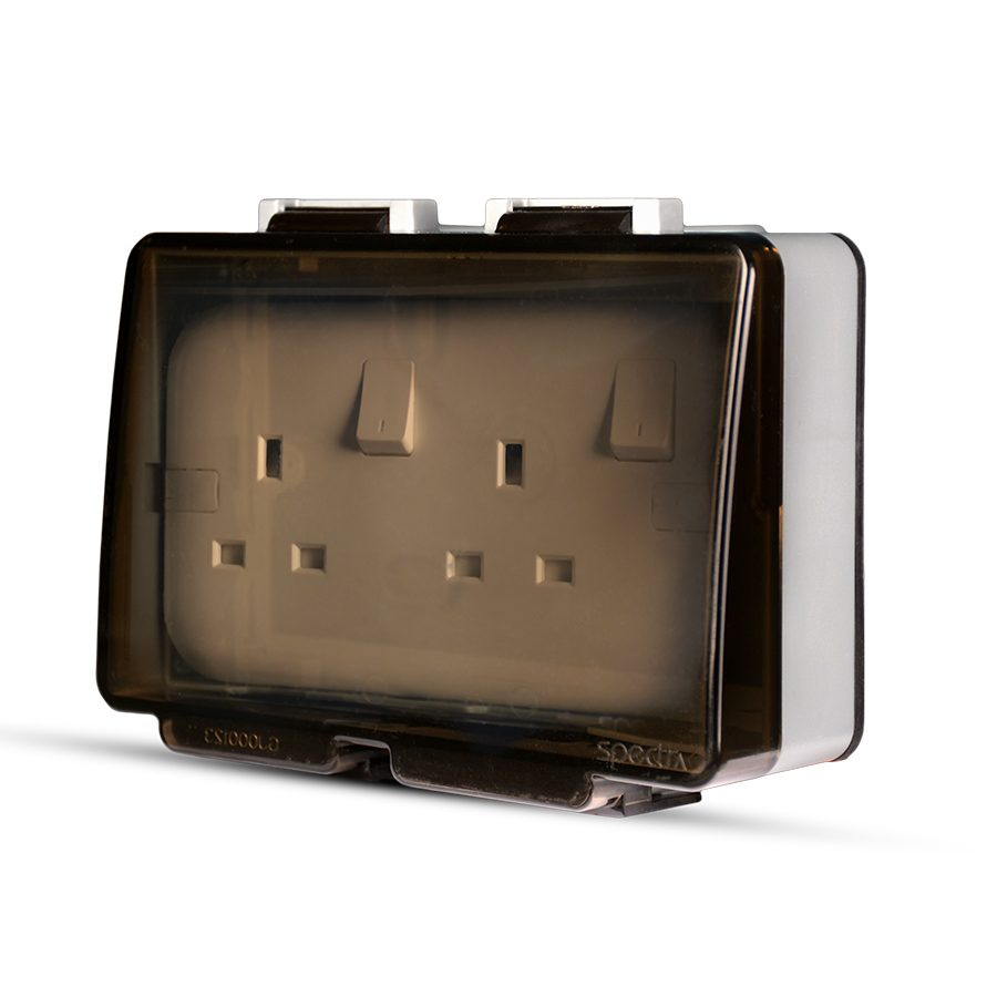 Weatherproof14-2-Gang-Socket-enclosure,-Flush-mounted